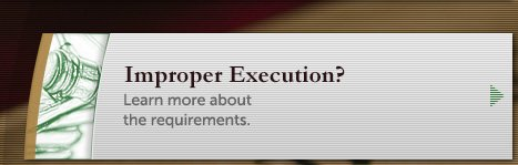 Learn about improper execution.